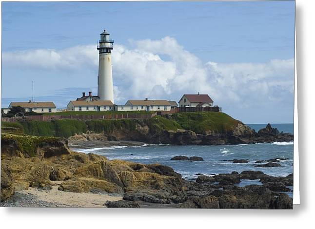 Pigeon Point Light Station Greeting Cards - Pigeon Point Light Station Greeting Card by Wanda Jesfield