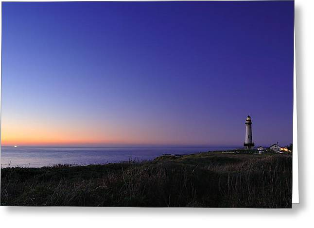 Recently Sold -  - Half Moon Bay Greeting Cards - Pigeon Point Lighthouse Greeting Card by Richard Leon
