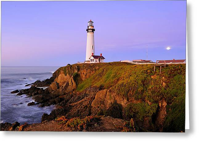 Half Moon Bay Greeting Cards - Pigeon Point Sunrise Greeting Card by Richard Leon
