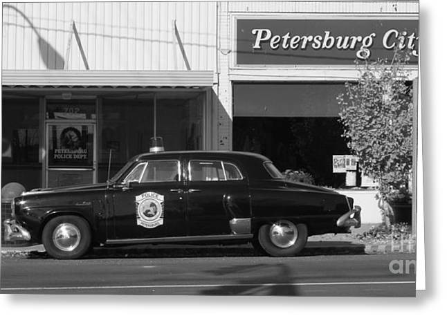 Police Cruiser Greeting Cards - Pike County Indiana Greeting Card by Jack R Brock