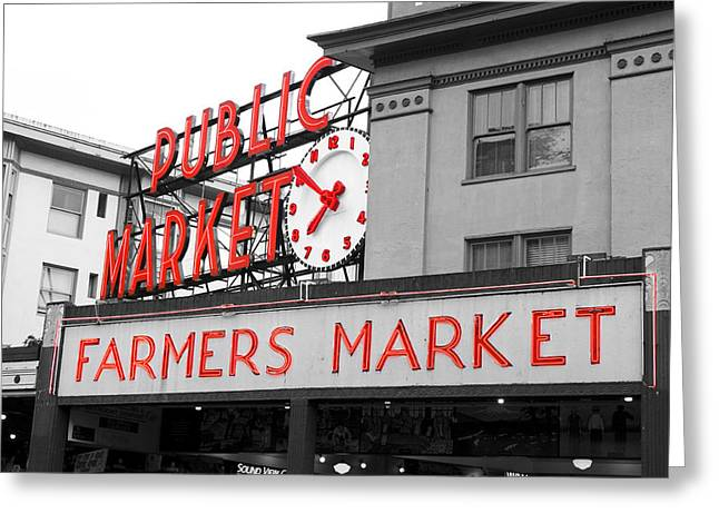 Recently Sold -  - Farm Stand Greeting Cards - Pike Place Market Seattle Greeting Card by Michael  Kenney