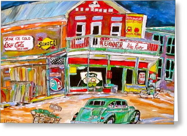 Michael Litvack Greeting Cards - Pike River Depanneur Greeting Card by Michael Litvack
