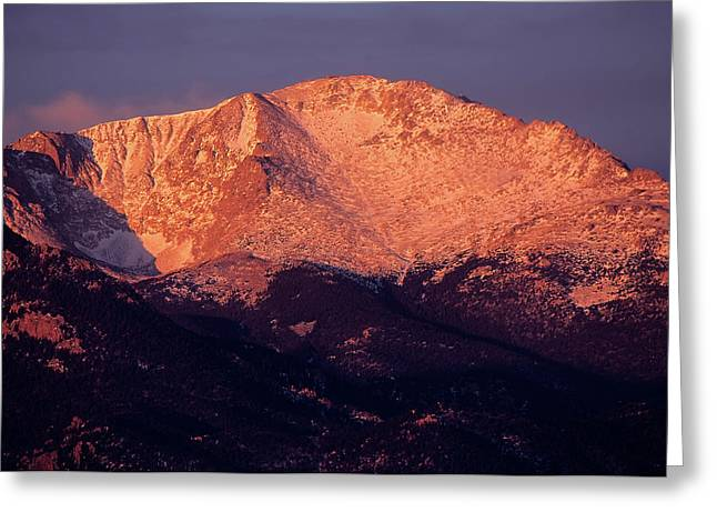 Color_image Greeting Cards - Pikes Peak Early Morning Greeting Card by John Brink