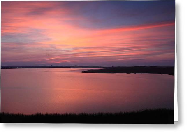 Truro Greeting Cards - Pilgrim Lake Sunset Cape Cod National Seashore Greeting Card by John Burk