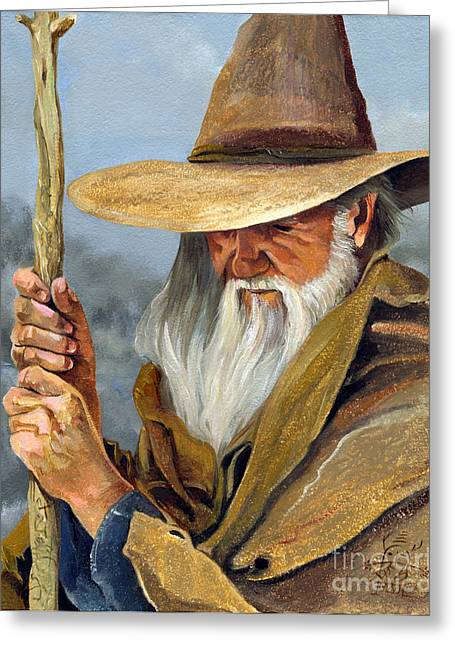 Mage Greeting Cards - Pilgrimage Greeting Card by J W Baker