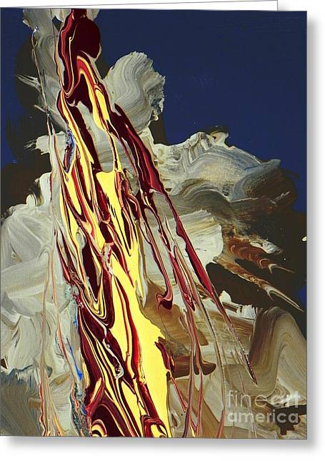 Improvisational Greeting Cards - Pillar of Fire close up Greeting Card by David Ackerson