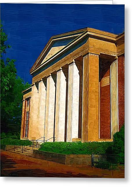 Historical Buildings Greeting Cards - Pillars Greeting Card by Deborah MacQuarrie