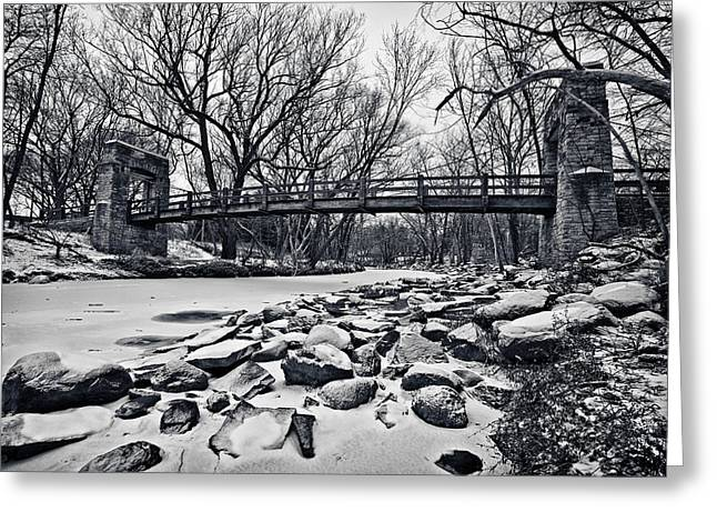 40mm Greeting Cards - Pillars on the Shore Greeting Card by CJ Schmit