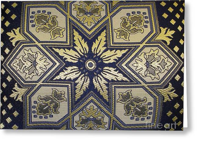 Pillows Of Agadir - Moroccan Blue Greeting Card by Maria Bonnier-Perez