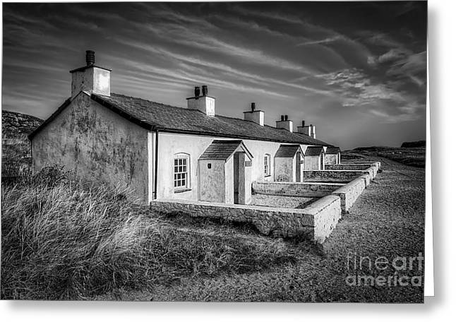 Newborough Greeting Cards - Pilot Cottages Greeting Card by Adrian Evans