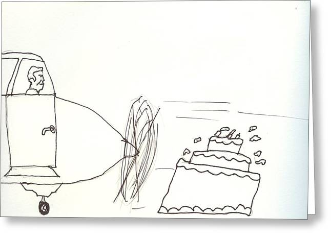 Aviation Caricatures Greeting Cards - Pilots Lounge Birthday Image Greeting Card by JD Moores