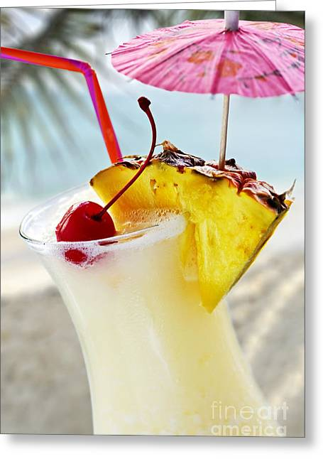 Froth Greeting Cards - Pina colada Greeting Card by Elena Elisseeva
