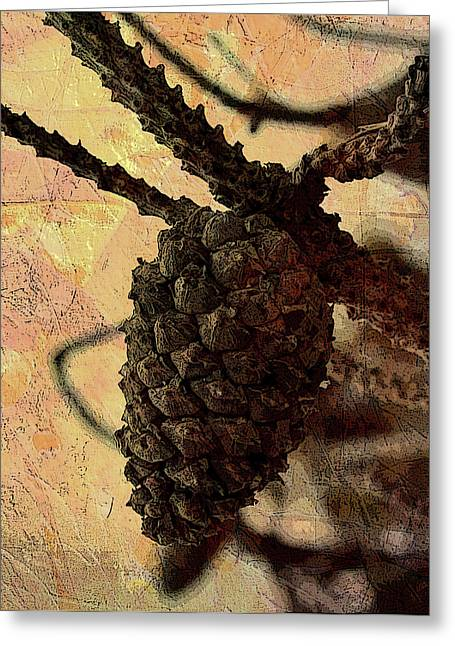 Pine Cones Greeting Cards - Pine Cone Greeting Card by Ellen Heaverlo