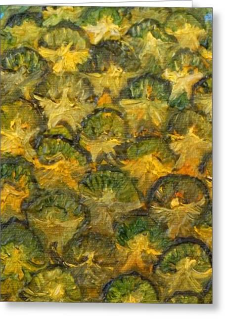 Anne Cameron Cutri Greeting Cards - Pineapple angels Greeting Card by Anne Cameron Cutri