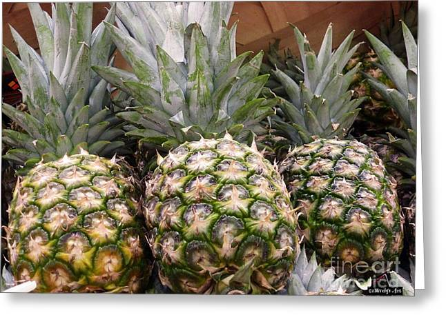 Hawaiian Food Greeting Cards - Pineapples Greeting Card by Methune Hively