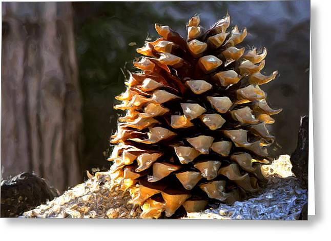 Pinecones Greeting Cards - Pinecone Greeting Card by Gilbert Artiaga