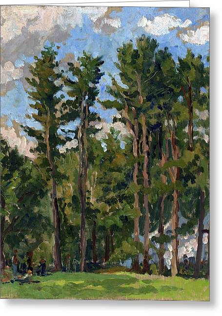 Brahms Greeting Cards - Pines at Tanglewood Greeting Card by Thor Wickstrom