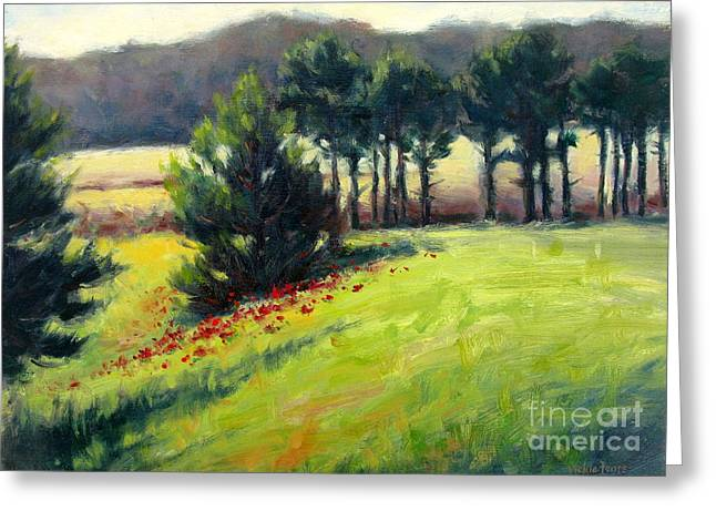 Pines On The Hill Greeting Card by Vickie Fears