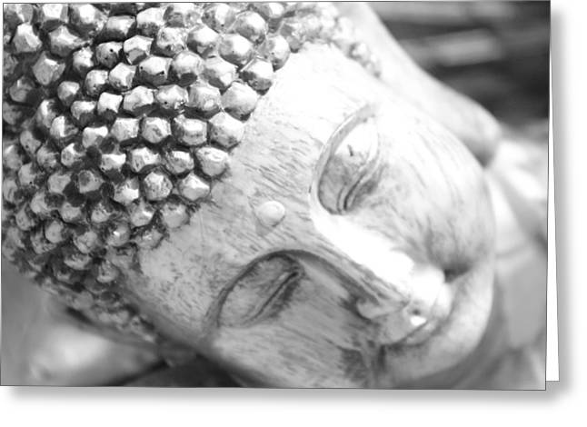 Realization Greeting Cards - Pinhole Meditative Smile Greeting Card by Carolina Liechtenstein