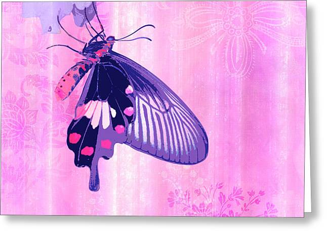 Pink and Purple Companions 1 Greeting Card by JQ Licensing