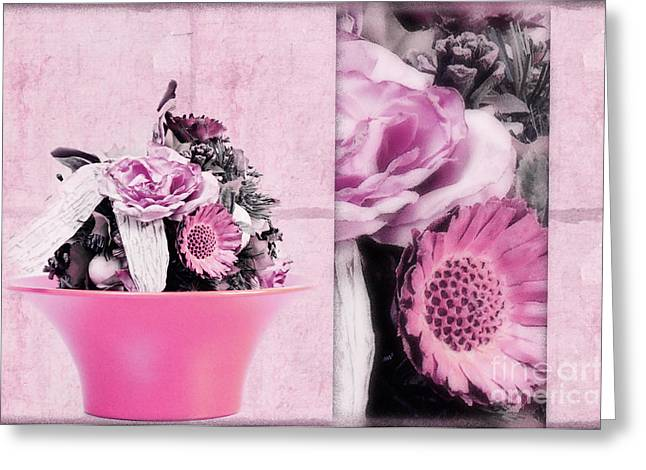 Photoart Greeting Cards - Pink Greeting Card by Angela Doelling AD DESIGN Photo and PhotoArt