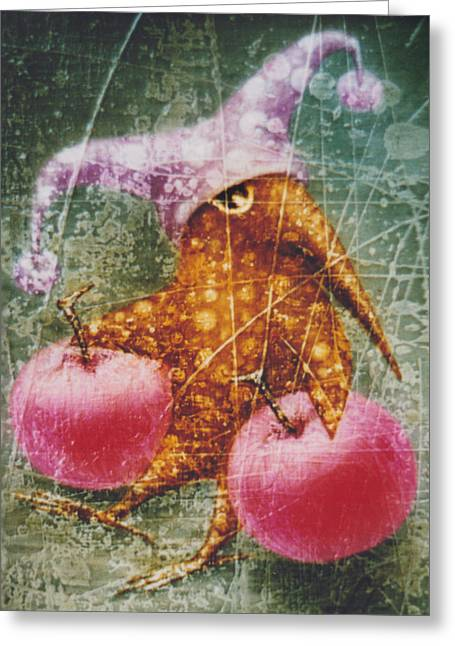 Fantacy Greeting Cards - Pink  Apples Greeting Card by Lolita Bronzini