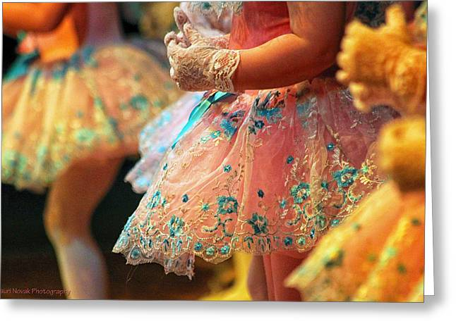 Pink Ballerina Greeting Card by Lauri Novak