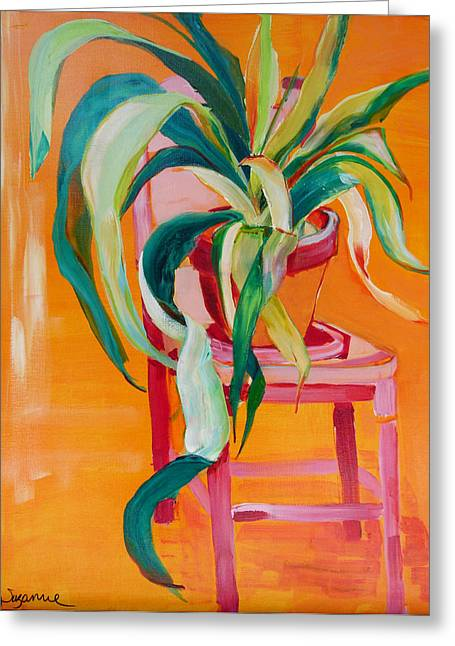 Suzanne Willis Greeting Cards - Pink Chair Greeting Card by Suzanne Willis