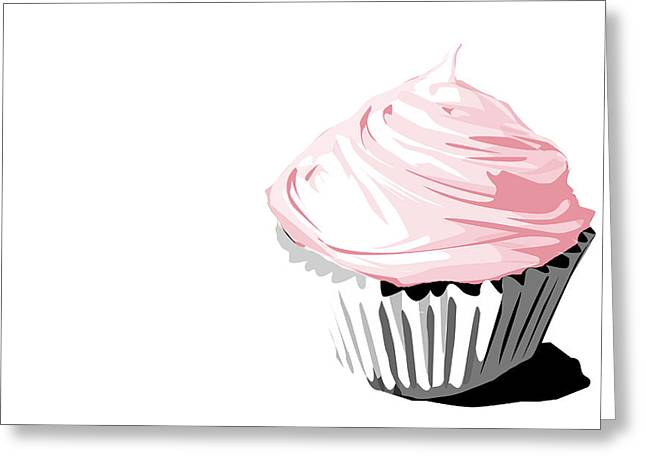 Frosting Digital Greeting Cards - Pink cupcake Greeting Card by Jay Reed