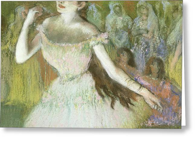 Pink Dancer  Greeting Card by Edgar Degas