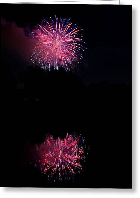 4th July Photographs Greeting Cards - Pink Fireworks Greeting Card by James BO  Insogna