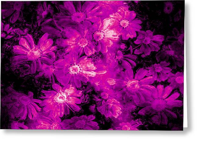 Special Occasion Digital Art Greeting Cards - Pink Flower Arrangement Greeting Card by Phill Petrovic