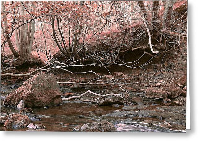 Magneta Greeting Cards - Pink Forest Greeting Card by Svetlana Sewell