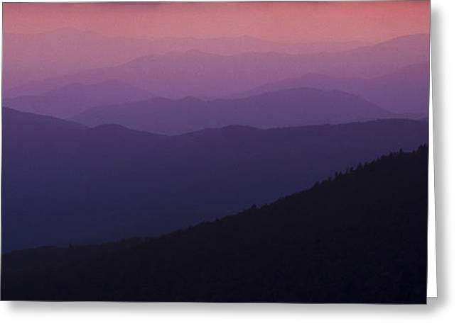 Great Smokey Mountains Greeting Cards - Pink in Layers Greeting Card by Ryan Heffron