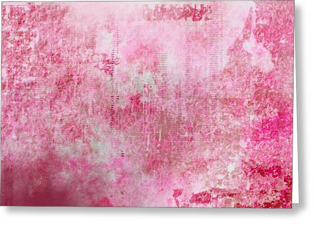 Pink Lady Greeting Card by Christopher Gaston