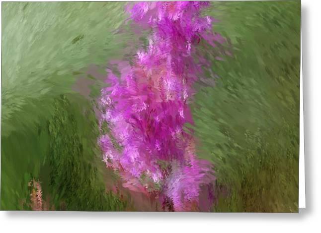 Pink nature abstract Greeting Card by David Lane