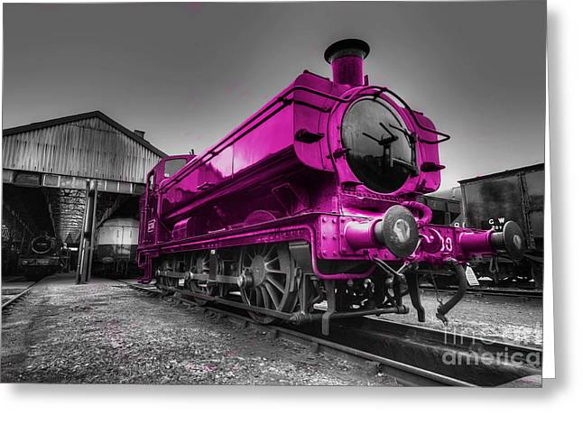 Shed Photographs Greeting Cards - Pink Pannier  Greeting Card by Rob Hawkins