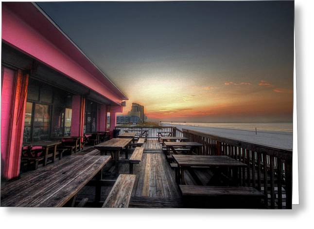 Crimson Tide Greeting Cards - Pink Pony Sunrise Greeting Card by Michael Thomas