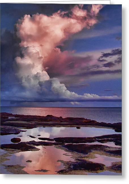 Top-end Greeting Cards - Pink Sky Greeting Card by Douglas Barnard