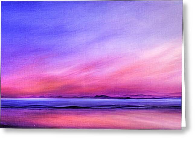 Jan Farthing Greeting Cards - Pink sunrise. Greeting Card by Jan Farthing