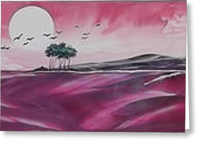 Lessons Greeting Cards - Pink Sunset Greeting Card by Danita Cole