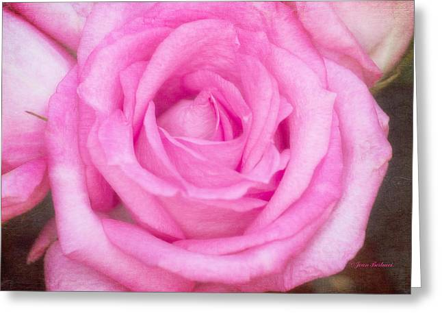 Pink Surprise Greeting Card by Joan Bertucci