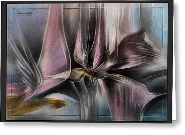 Abstractions Pastels Greeting Cards - Pinkpetalscape 2010  Greeting Card by Glenn Bautista