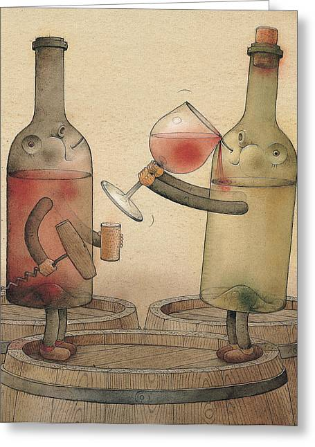 Cellar Greeting Cards - Pinot Noir and Chardonnay Greeting Card by Kestutis Kasparavicius