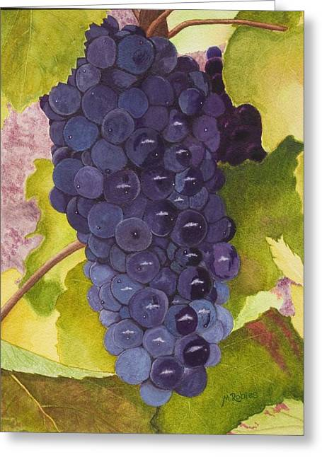Pinot Noir Greeting Cards - Pinot Noir Ready for Harvest Greeting Card by Mike Robles