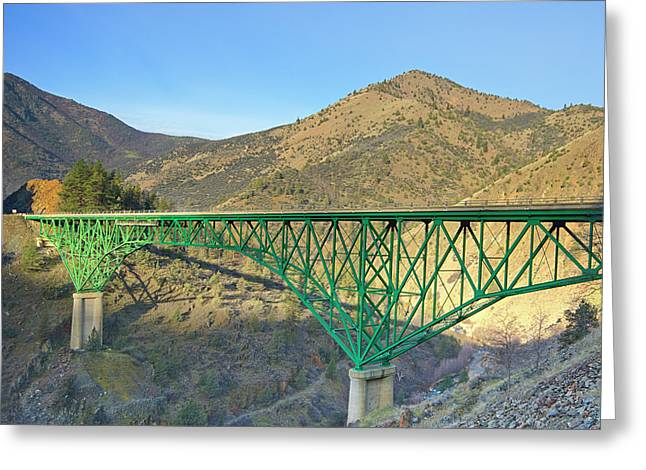 Pioneer Bridge Greeting Card by Loree Johnson