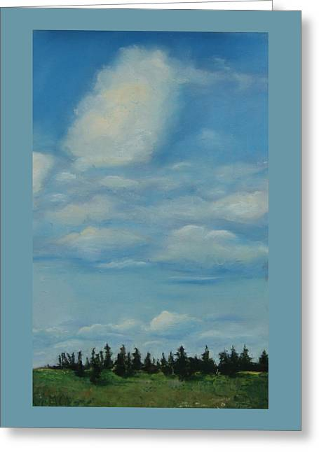 Cloudy Pastels Greeting Cards - Pioneer Clouds  Greeting Card by Marie-Claire Dole