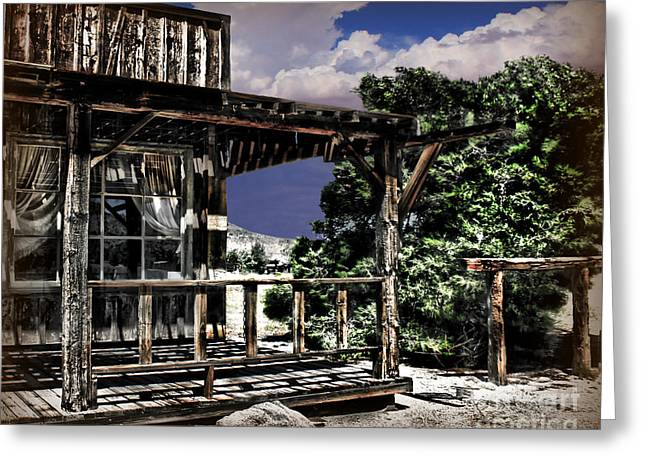 Old West Towns In California Greeting Cards - Pioneer House Greeting Card by Danuta Bennett