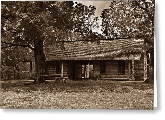 Pioneer House Greeting Cards - Pioneer Log House 1 Greeting Card by Douglas Barnett