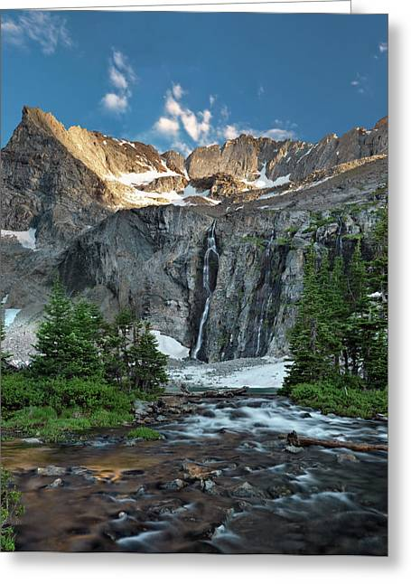 Pouring Greeting Cards - Pioneer Mountains above Kane Lake Greeting Card by Leland D Howard